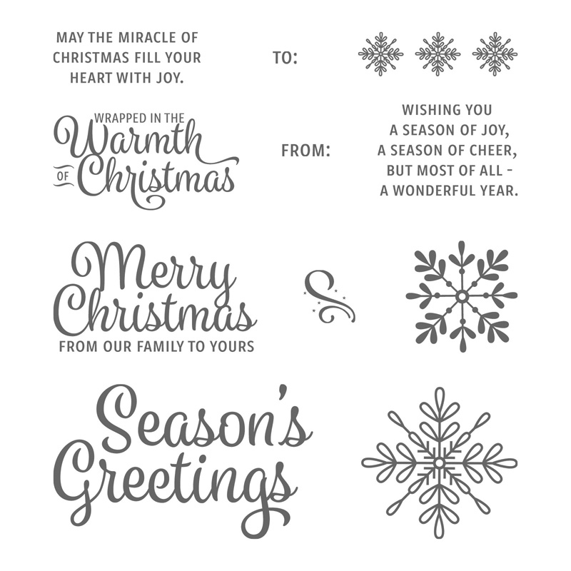 Snowflake Sentiments Clear Mount Stamp Set By Stampin Up