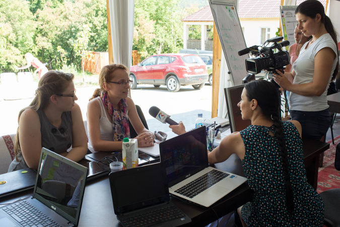 GirlsGoIT was the first summer camp in Moldova for young women who want to improve their IT skills. Photo: UN Women in Moldova/ Dorin Goian