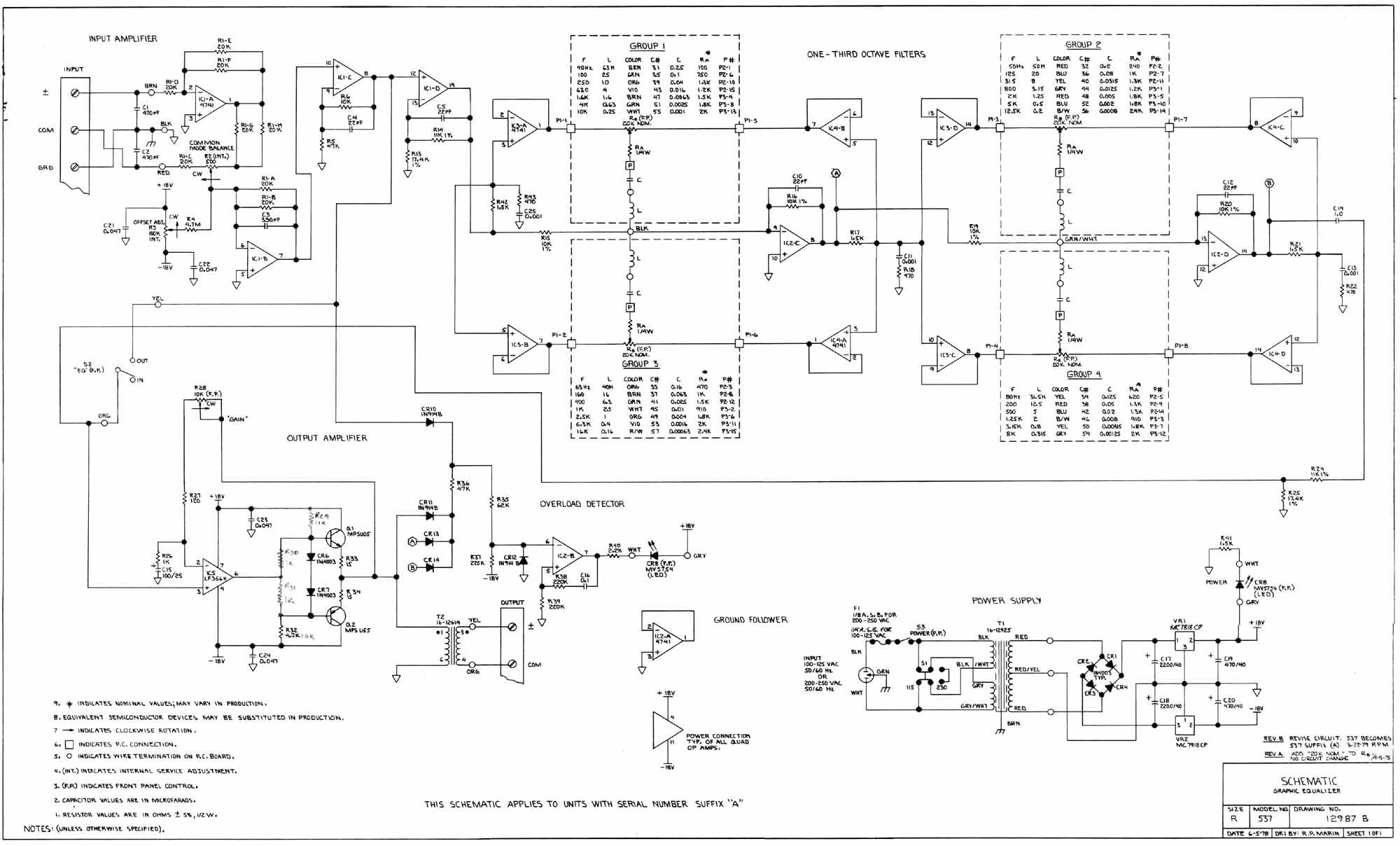 3 Way Active Crossover Schematic Diagram