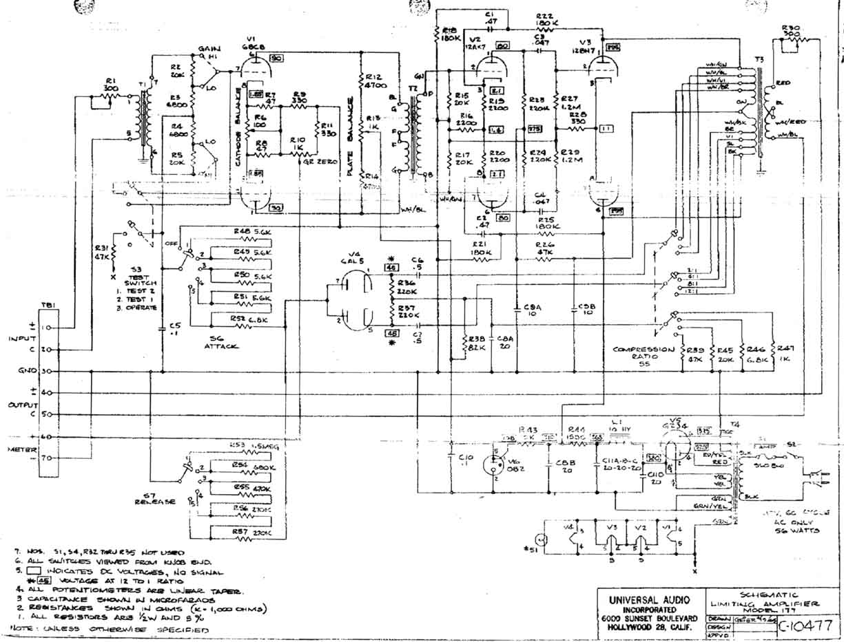 Universal Audio 177 Schematic
