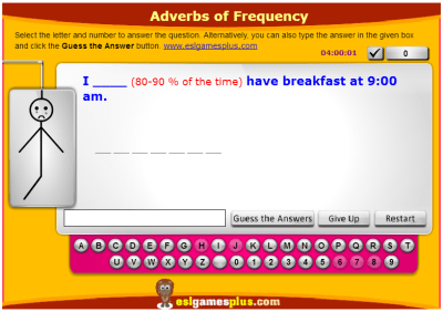 Adverbs Of Frequency Adverbios De Frecuencia Jiribillas