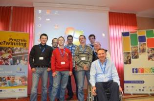 """Members of the association """"SZANSA"""", who are taking part in the Grundtvig Project """"European Citizen Today"""" within the framework of """"Lifelong Learning Programme"""" participated in conference and computer workshops """"In digital world – courses, workshops"""" in Sandomierz."""