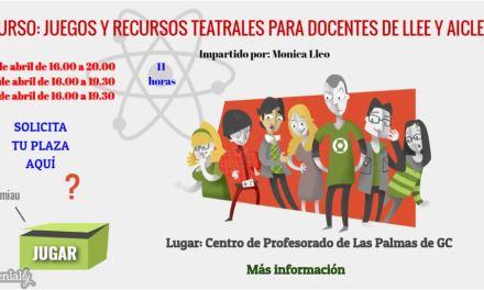 Curso: Juegos y recursos teatrales para docentes de LLEE y AICLE