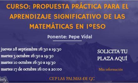 Curso: Propuesta práctica para el aprendizaje significativo de las matemáticas en 1ºESO