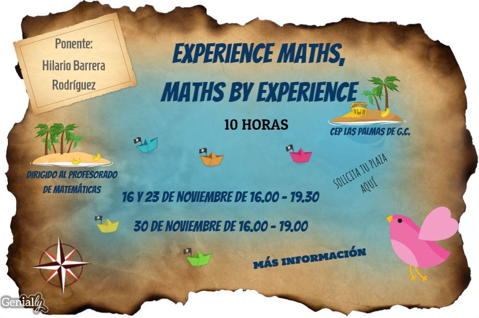 Curso: Experience Maths and Maths by experience