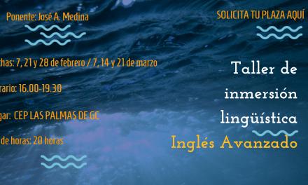 Taller de inmersión lingüística en inglés nivel Avanzado