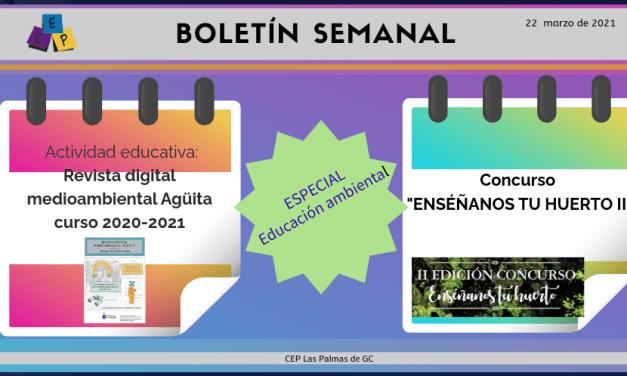 BOLETÍN SEMANAL – 22 DE MARZO DE 2021 –