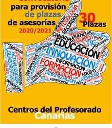 Convocatoria para la provisión de plazas vacantes de asesorías de los Centros del Profesorado 2021