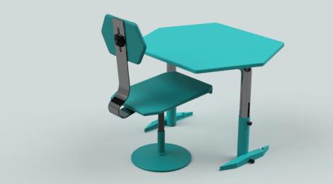 MOBILIARIO ADAPTABLE: mesa y silla XSag-ON