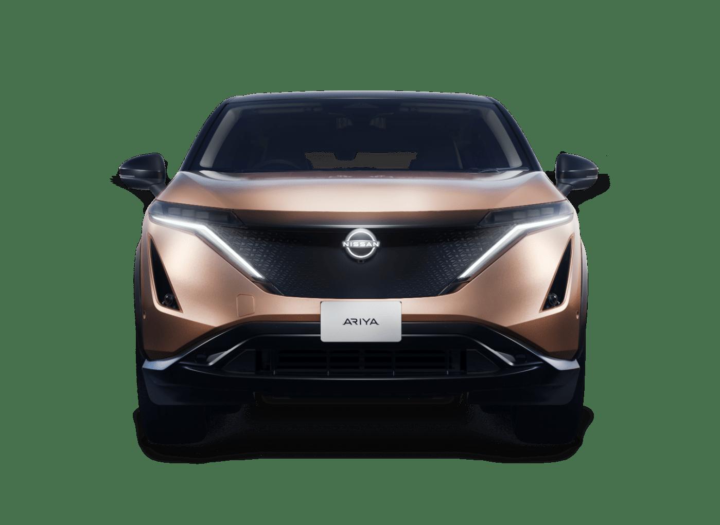 Nissan Ariya on white background
