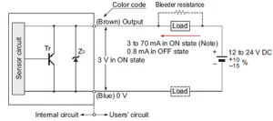 Cylindrical Inductive Proximity Sensor GXUGXFUGXN IO Circuit and Wiring diagrams