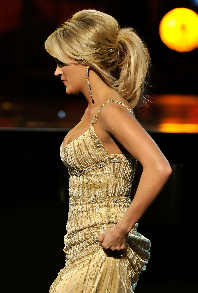 Carrie Underwood Hair Pony Tail Carrie Underwood Hair
