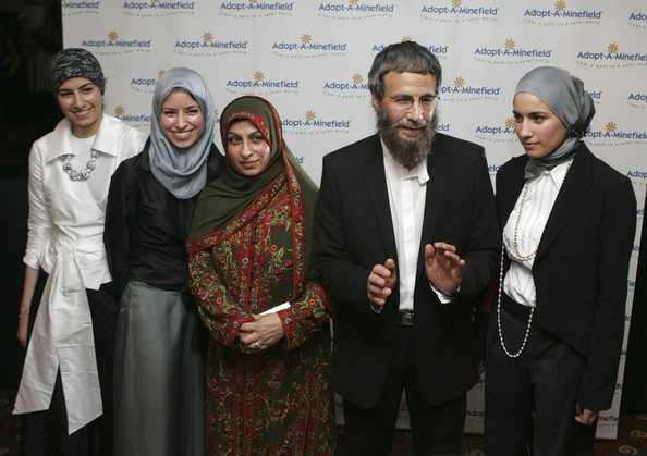 Cat Stevens British Yusuf Islam (4rthL), the artist formerly known as Cat Stevens, his wife Faezia (3rdL) and his daughters arrive at the 'Adopt-A-Minefield' Benefit Gala in support of landmines victims on May 28, 2005 in Neuss, Germany.