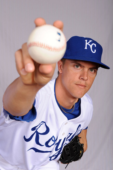 Zack Greinke #23 of the Kansa City Royals poses during photo day at Surprise Stadium on February 22, 2009 in Surprise, Arizona.  (Photo by Harry How/Getty Images) *** Local Caption *** Zack Greinke