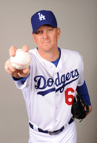 Jeff Weaver #63 of the Los Angeles Dodgers poses during photo day at Camelback Ranch on February 21, 2009 in Glendale, Arizona.  (Photo by Harry How/Getty Images) *** Local Caption *** Jeff Weaver