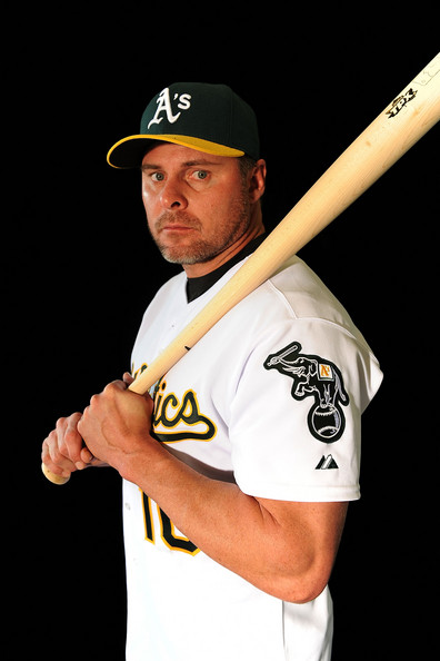 Jason Giambi of the Oakland Athletics poses during photo day at the Athletics spring training complex on February 22, 2009 in Phoenix, Arizona.  (Photo by Ronald Martinez/Getty Images) *** Local Caption *** Jason Giambi