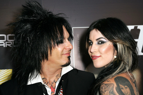 Kat Von D Muscian Nikki Sixx and tattoo artist Kat Von D attend the