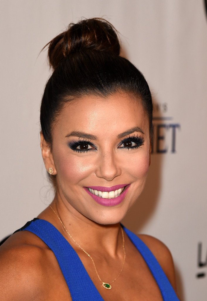 Eva Longoria Pink Lipstick Beauty Lookbook StyleBistro