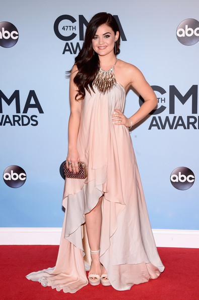 Lucy Hale Fishtail Dress