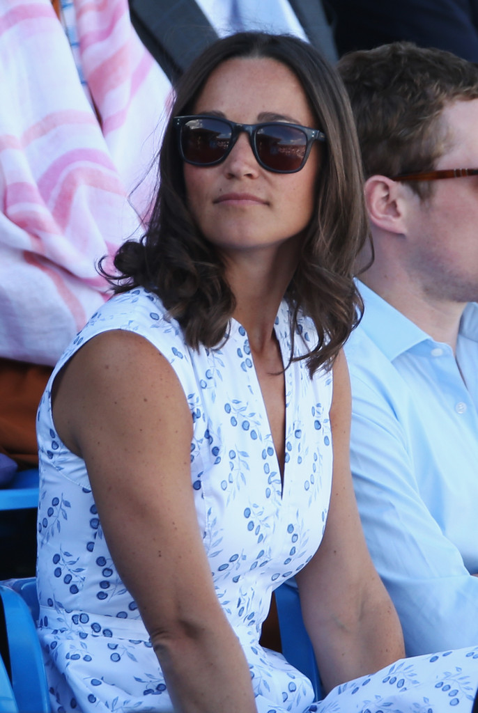 Pippa Middleton Medium Wavy Cut Pippa Middleton Looks