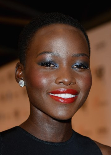 Lupita Nyong'o - Lady in Red: Classic Red Lips for Winter - StyleBistro