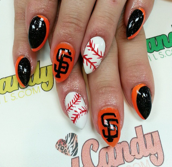 The San Francisco Giants Happy Opening Day Here Are 10 Cute Baseball Nail Art Ideas