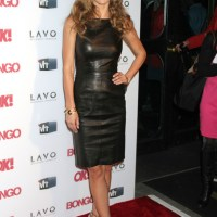 Audrina Patridge Steps Out in a Leather Shift Dress - New York City Style