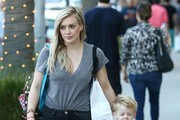 'Younger' actress Hilary Duff and her son Luca out doing some last minute Christmas shopping in Beverly Hills, California on December 23, 2014. Hilary is excited for her sister Haylie to have her first baby, saying 'I can't wait to be an aunt'.