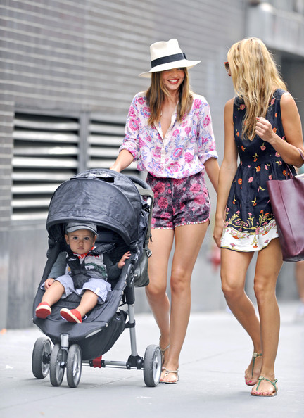 Miranda Kerr - Miranda Kerr and Son Flynn Walk with a Friend in NYC