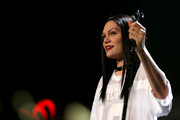 Singer Jessie J performs onstage during 103.5 KISS FM's Jingle Ball 2014 at Allstate Arena on December 18, 2014 in Chicago, Illinois.