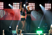 Singers  Charli XCX  (L) and Iggy Azalea perform onstage during 103.5 KISS FM's Jingle Ball 2014 at Allstate Arena on December 18, 2014 in Chicago, Illinois.