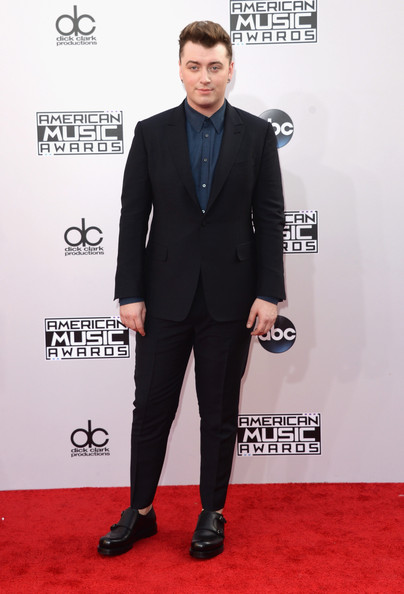 Singer Sam Smith attends the 2014 American Music Awards at Nokia Theatre L.A. Live on November 23, 2014 in Los Angeles, California.