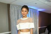 Actress Zendaya attends the 2nd Annual unite4:humanity presented by ALCATEL ONETOUCH at the Beverly Hilton Hotel on February 19, 2015 in Los Angeles, California.
