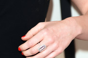 Singer Miley Cyrus (jewelry detail) attends The 57th Annual GRAMMY Awards at the STAPLES Center on February 8, 2015 in Los Angeles, California.