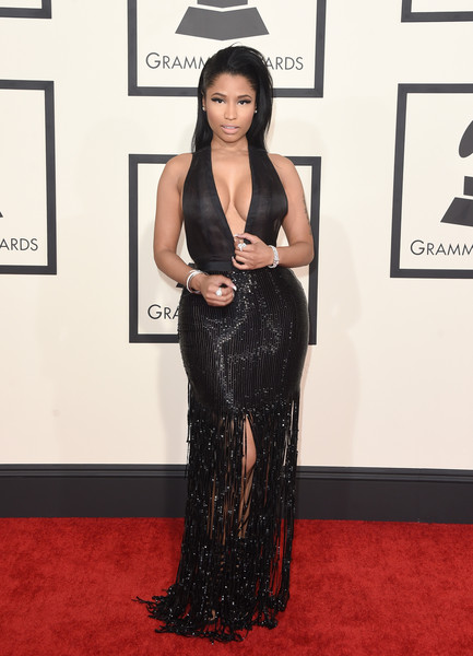 Rapper Nicki Minaj attends The 57th Annual GRAMMY Awards at the STAPLES Center on February 8, 2015 in Los Angeles, California.