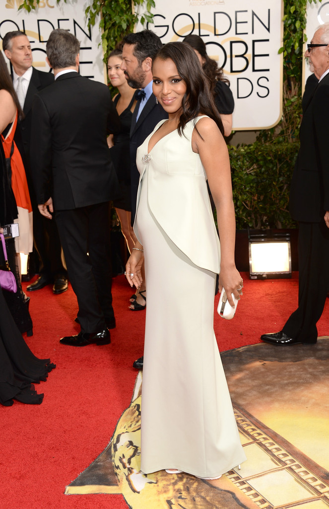 kerry washington pregnant 2014 golden globe