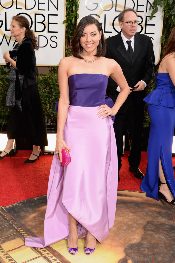 aubrey plaza golden globes 2014
