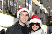 "Actors David Lambert and Italia Ricci attend ABC's ""25 Days Of Christmas"" Celebration at Cucina at Rockerfellar Center on December 7, 2014 in New York City."