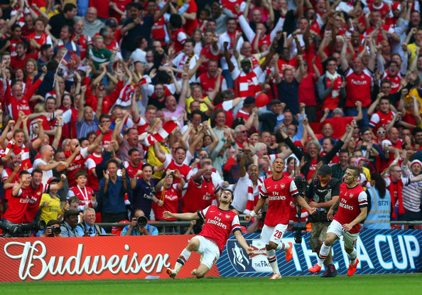 Image result for arsenal fans celebrate v hull