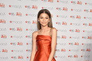 Zendaya attends the Go Red For Women Red Dress Collection 2015 presented by Macy'sfashion show during Mercedes-Benz Fashion Week Fall 2015 at Lincoln Center on February 12, 2015 in New York City.