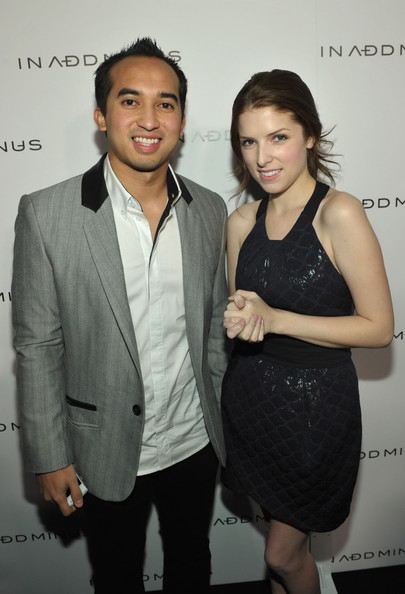 "Anna Kendrick IN ADD MINUS? Nasarudin ""Nasa"" Nasimuddin and actress Anna Kendrick (wearing IN ADD MINUS) attend the IN ADD MINUS flagship store launch on November 18, 2010 in Los Angeles, California."