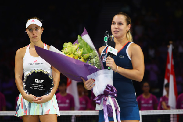 with Angelique Kerber