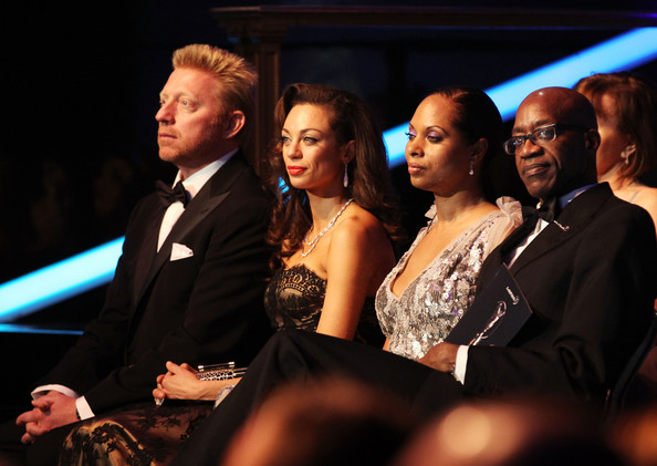 Edwin Moses and Michelle Moses - Awards Show-2012 Laureus World Sports Awards
