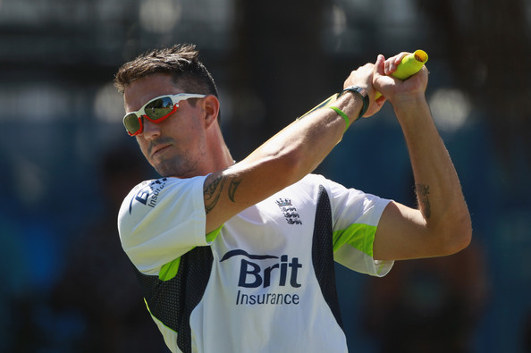 Kevin Pietersen In England Nets Session