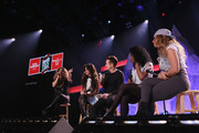 (L-R) Ally Brooke Hernandez, Camila Cabello, JoJo Wright, Normani Hamilton, and Dinah Jane Hansen of Fifth Harmony performs on the Honda Stage at iHeartRadio Theater on February 5, 2015 in Burbank, California.