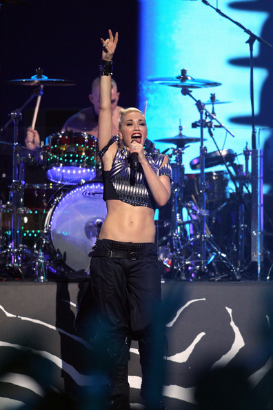 Gwen Stefani Singer Gwen Stefani of No Doubt performs onstage during the 2012 iHeartRadio Music Festival at the MGM Grand Garden Arena on September 21, 2012 in Las Vegas, Nevada.