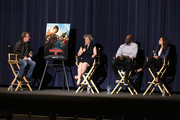 "(L-R) Deadline's Pete Hammond, producer Bonnie Arnold, actor Djimon Hounsou,  and actress America Ferrera speak at ""How To Train Your Dragon 2"" Special Screening And Q&A at Harmony Gold Theatre on January 26, 2015 in Los Angeles, California."