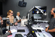 Iggy Azalea and Rita Ora chat with KISS FM's Melvin O'Doom and Ricky Haywood Williams at Kiss FM Studio's on September 18, 2014 in London, England. Rita & Iggy's interview will be broadcasted on KISS Breakfast 6am - 9am on 19th September 2014.