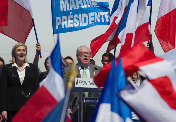 Marine Le Pen and Jean-Marie Le Pen - French Far Right Party 'Front National' May Day Demonstration In Paris