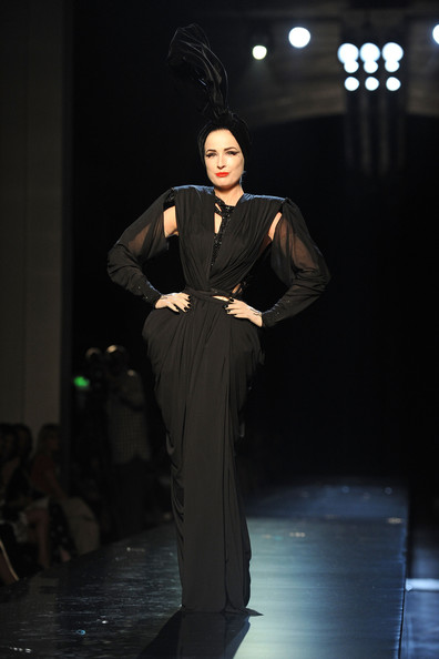 Dita Von Teese walks the runway during the Jean-Paul Gaultier show as part of the Paris Haute Couture Fashion Week Fall/Winter 2011 on July 7, 2010 in Paris, France.